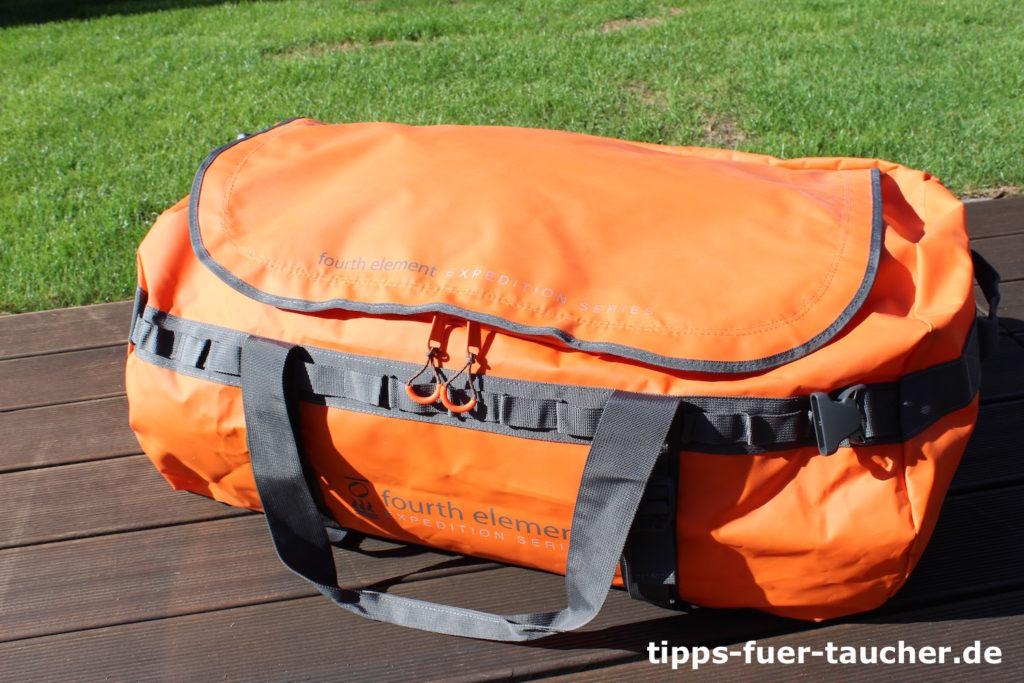 Stabiler Reißverschluss am Fourth Element Duffle Bag