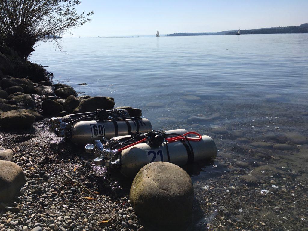 Vorbereitungen auf den Tec 2 von Global Underwater Explorers