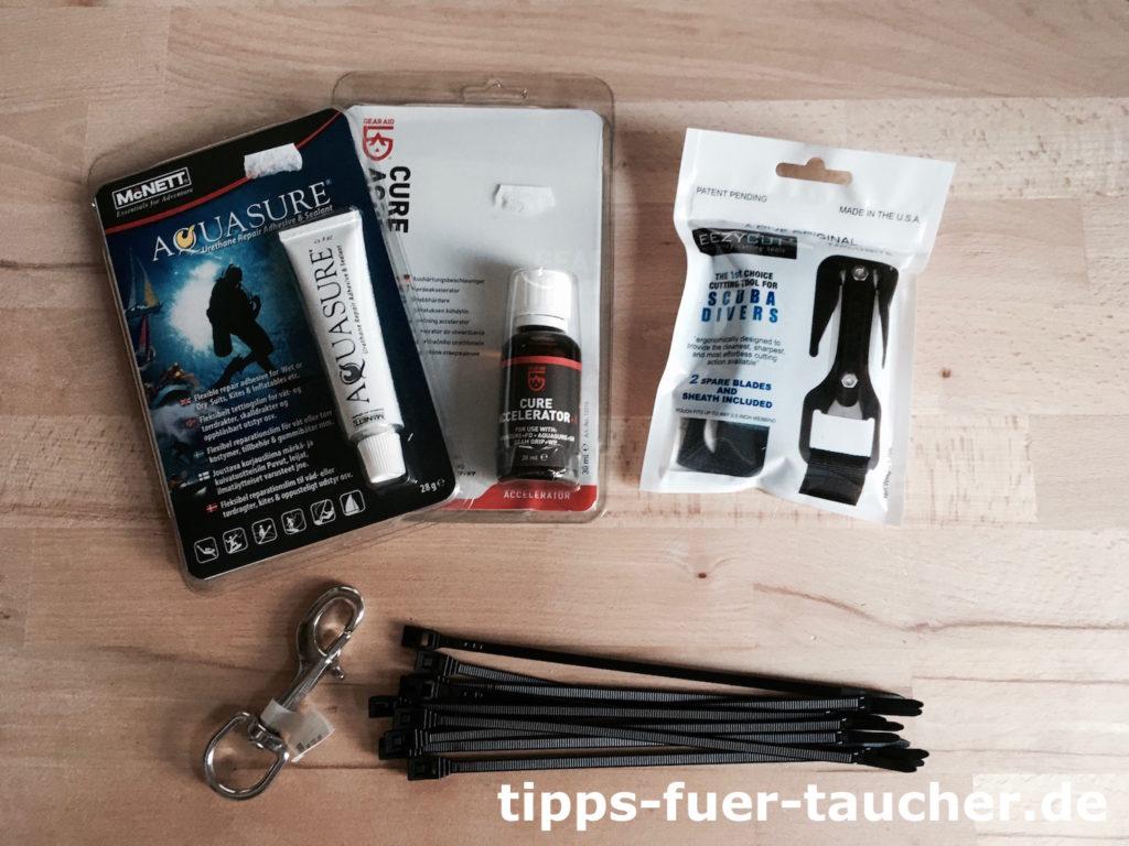 Neue Mundstücke für Atemregler, eezycut Messer