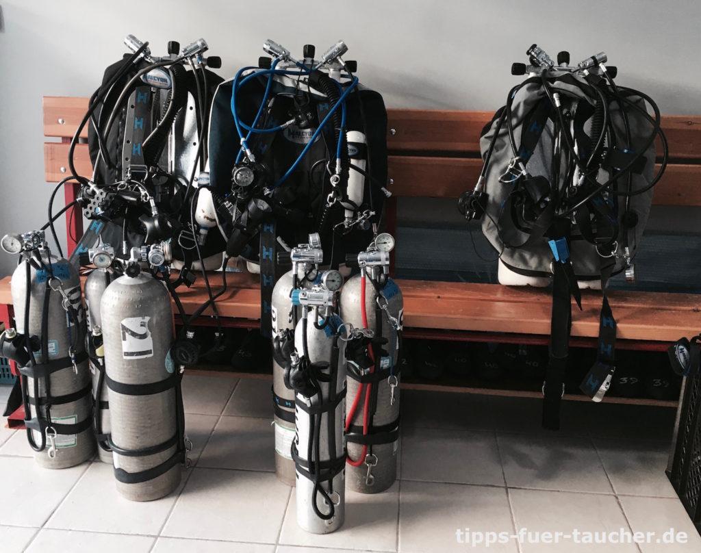Tauchausrüstung für GUE Technical Diver 2 Kurs