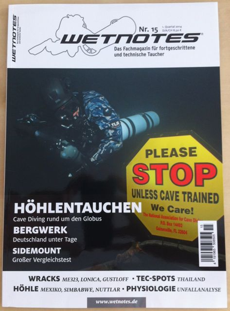 wetnotes - Das Fachmagazin für fortgeschrittene und technische Taucher. Ausgabe Nr. 15