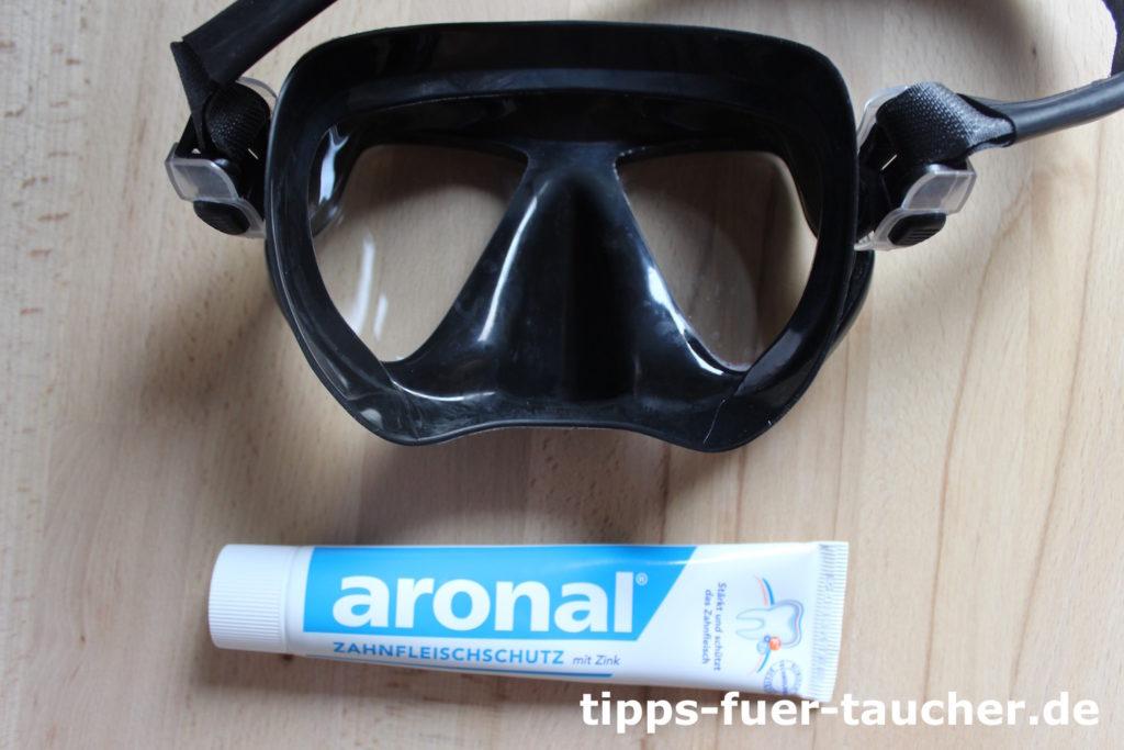 Zahnpasta verhindert das Beschlagen der Maske