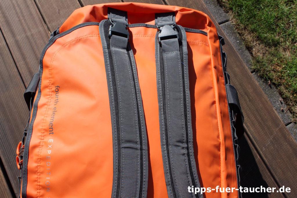 Abnehmbare Rucksackgurte- Fourth Element Duffle Bag 120Liter