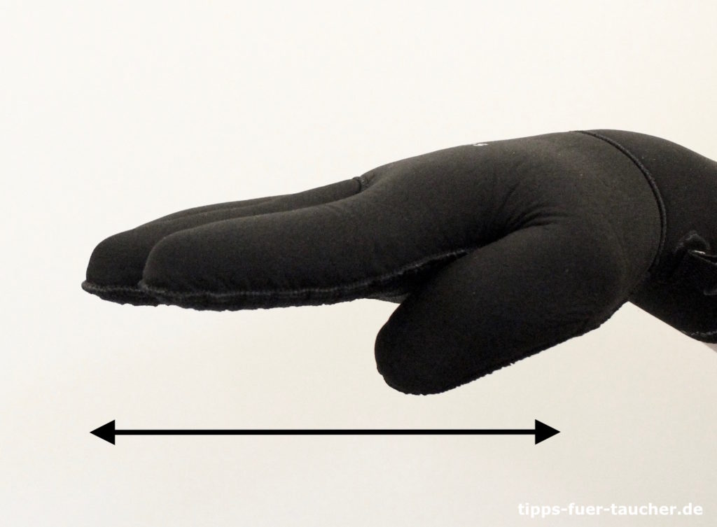 Tiefe halten, Handzeichen für Taucher