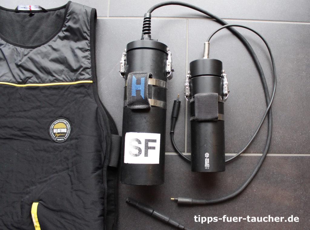 Akkus um den elektrischen Unterzieher mit Strom zu versorgen