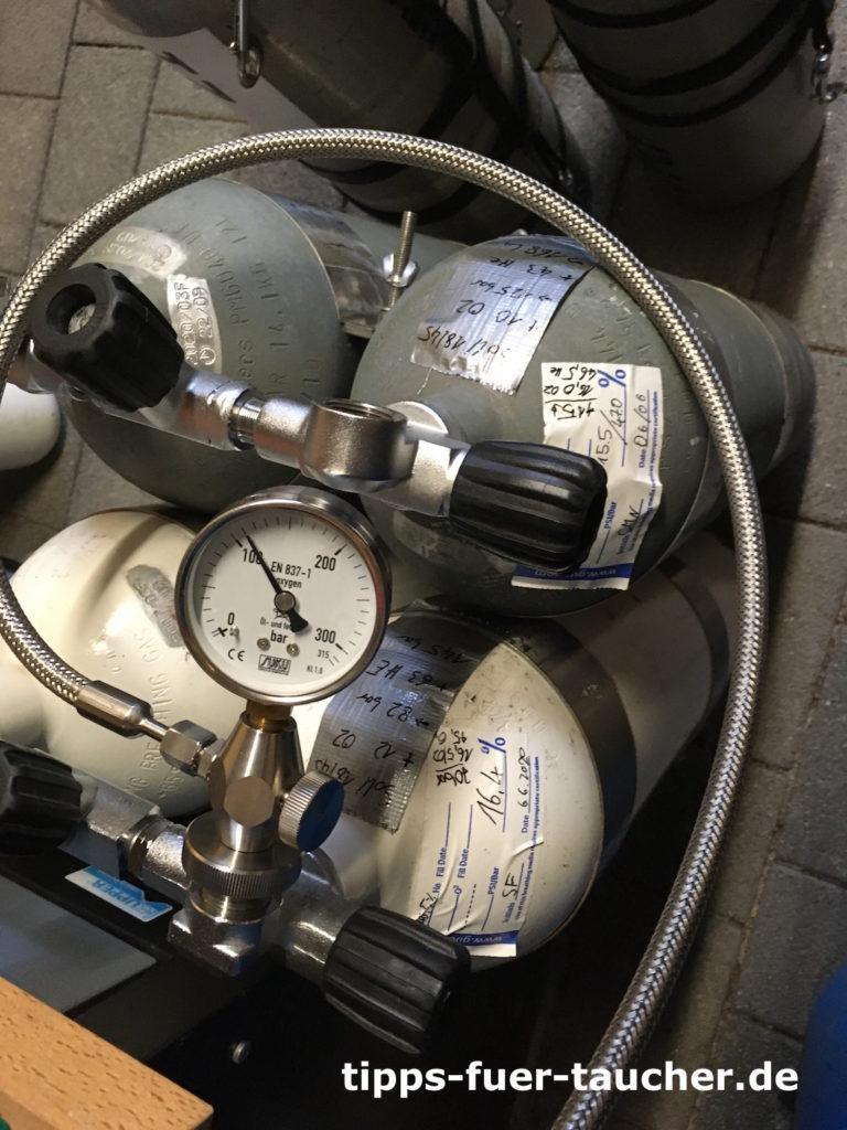 Gas-Blending mit Doppelflaschen und Trimix